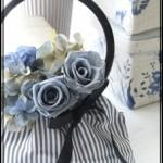 ふんわりかわいい布バッグで作るアレンジメント