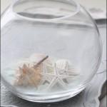 夏インテリアにぴったりな【涼しげ♪】丸いガラスベース活用法
