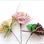 100均折り紙でお手軽簡単♪お正月飾りに便利なピックの作り方