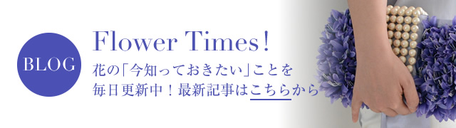 BLOG Flower Times !花の「今知っておきたい」ことを毎日更新中!最新記事はこちらから